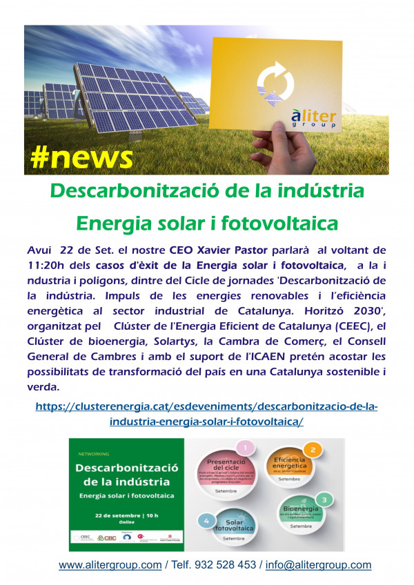 Industry Decarbonization: Solar and Photovoltaic Energy