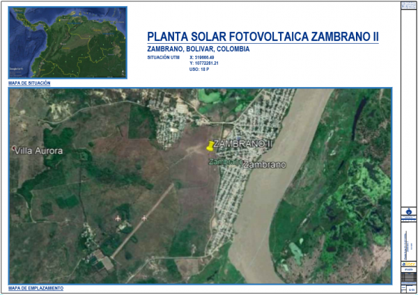ZAMBRANO Project PV plant on grid connection